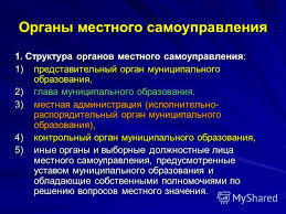 Презентация на тему Органы местного самоуправления в системе  18 Органы местного самоуправления