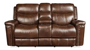Double Rocker Recliner Loveseat Furniture Loveseat With Console Power Reclining Leather