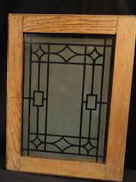 Oak Kitchen Cabinets With Frosted Glass Doors Antique Oak Cabinet