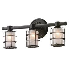 caged lighting. vintage bronze caged sconce 3 light lighting