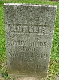 Aurelia Gunn Rhodes (1788-1849) - Find A Grave Memorial