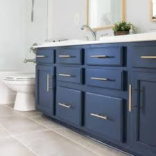 how to paint a bathroom cabinet the