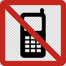 No Cell Phone Sign Printable Telephone Call Pager Text Messaging Briefcase Printable No