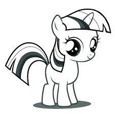 Brilliant Design Twilight Sparkle Coloring Page My Little Pony