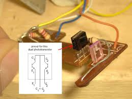 pinout help for my salvaged ir sensor photo diode from mouse irled and dual phototransistor pair jpg