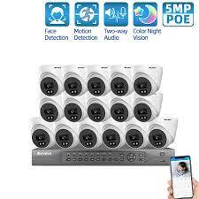 Özel Promosyon 13% OFF - Güvenlik kamerası güvenlik sistemi seti 16ch POE  5MP NVR kapalı açık HD renkli gece görüş Video gözetim IP kamera sistemi  seti