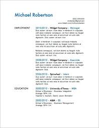 One Employer Resume Sample Simple One Page Resume Design Job Resume