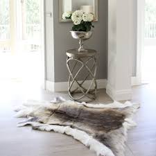 reindeer skin fur rug hide eluxury home