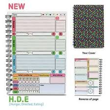eating log details about hde wellbeing habit tracker diary health mood feeling planner log journal book