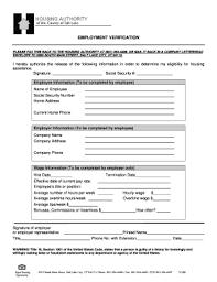 Employment Verification Templates 27 Printable Employment Verification Forms And Templates