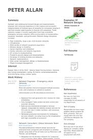 Network Engineer Resume Samples Visualcv Resume Samples Database