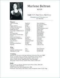 Acting Resume Templates Beauteous Talent Resume Sample Examples Of Talents And Skills Talent Resume