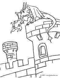 Coloriages Un Dragon Sur Un Chateau Fort Fr Hellokids Avec
