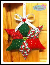 Over 100 Christmas Quilt Patterns, Tutorials, Quilted Projects & Fabric star decoration tutorial Adamdwight.com