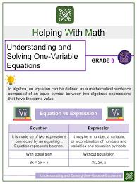 solving simple equations worksheet 1