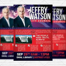Political Event Flyer Political Flyer Template Under Fontanacountryinn Com