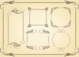 simple frame border design. Simple Borders Vector Frame Border Design