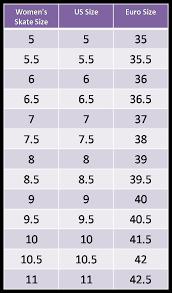 Inline Hockey Skate Size Chart 13 Studious Bauer Runner Size Chart