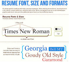 best resume font style and size resume writing font size amusing