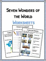 seven wonders of the world facts worksheets kidskonnect the seven wonders of the world facts worksheets