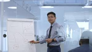 Young Asian Manager Presenting Business Plan By Pressmaster Videohive