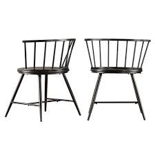 black side chair. Athis Side Chair Black