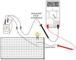 ammeter usage basic concepts and test equipment electronics again measure current through different wires in this circuit following the same connection procedure outlined above what do you notice about these