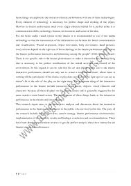 theatre interactive performance essay sample from assignmentsupport  4 page 5