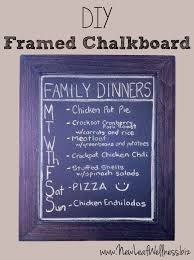 diy framed chalkboard dinner