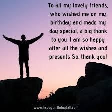 thank you birthday wishes status