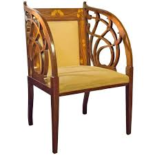 modern art nouveau furniture. Mahogany And Fruitwood Inlaid Tub Chair Circa 1895 Art Nouveau Modern Furniture
