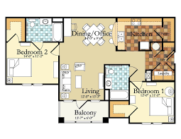 apartment floor plans designs. Two Bedroom Apartment Floor Plans Designs Unique Apartments Narrow 2