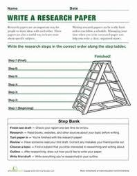 how to write a research paper worksheets students and school steps to writing a research paper