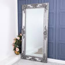 extra large silver mirror heavily