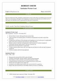 Sanitation Worker Job Description Sanitation Worker Resume Samples Qwikresume