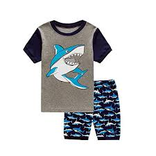 shark pajamas short sets % cotton children sleepwear clothes  boys shark pajamas short sets 100% cotton children sleepwear clothes set size 2t 7t 7