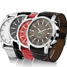 popular oversized watches for men buy cheap oversized watches for new fashion leather oversized men quartz luminous hands wrist watch 4 colors 0vy2