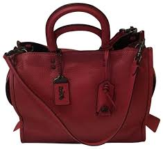 1941 Coach Red Satchel Rogue Leather SxOwdv ...