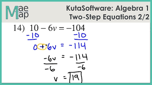 kuta algebra 1 two step equations part 2