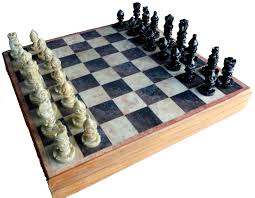 Game With Stones And Wooden Board Amazon StonKraft 100x100 Stone Wooden Chess Game Board Set 53