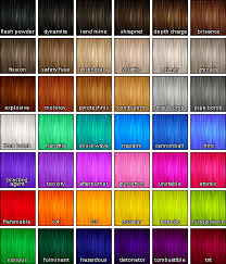 Hair Dye Colors Chart More Pooklet Colors Hair Dye Color Chart Unnatural Hair