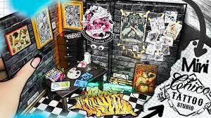Diy Miniature Tattoo Studio Dollhouse Room No Kit How To Make Mini Room