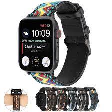 Dây Đeo Bằng Da Cho Đồng Hồ Thông Minh Apple Watch 5 4 42mm 38mm 40mm 44m  Iwatch Series 1 2 3 4 5 tại Nước ngoài