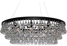 celeste dark antique bronze glass drop crystal chandelier