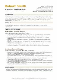 Business Support Analyst Resume Samples | Qwikresume