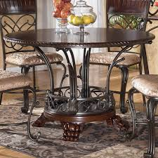 Ashley Furniture Alyssa Round Single Pedestal Dining Table with