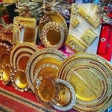 Saree Tray Decoration How to Do Saree Packing Decoration at Home Saree Guide 31