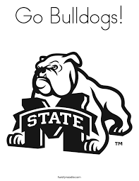 Small Picture MSU Bulldogs Coloring Page Twisty Noodle