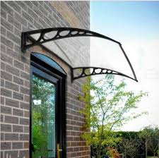 ktaxon diy window front door awning canopy patio rain cover yard garden black 40 x 30 40 x 40 com
