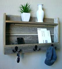 Entryway Coat Rack Shelf Simple Rustic Shelf With Hooks Entryway Wall Shelf With Hooks Rustic